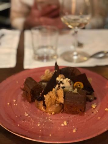 Texturas de Chocolate e Avelã